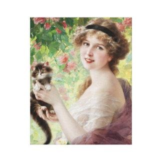 Emile Vernon Precious Kitten Canvas Print
