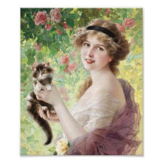 Emile Vernon Precious Kitten Print Photo Art