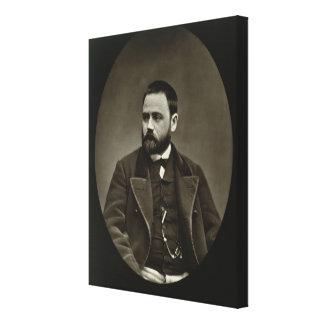 Emile Zola (1840-1902) from 'Galerie Contemporaine Canvas Print