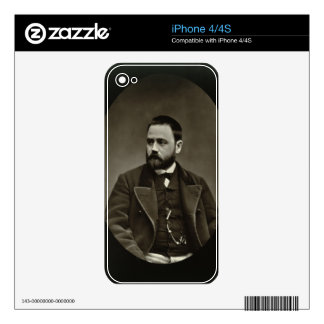 Emile Zola (1840-1902) from 'Galerie Contemporaine Skins For iPhone 4