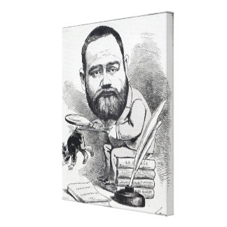 Emile Zola as a naturalist, from 'L'Eclipse' Canvas Print