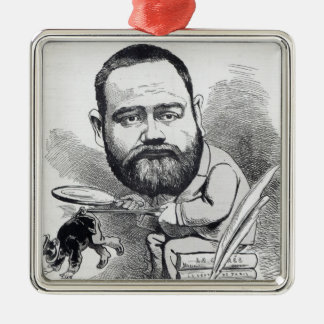 Emile Zola as a naturalist, from 'L'Eclipse' Metal Ornament