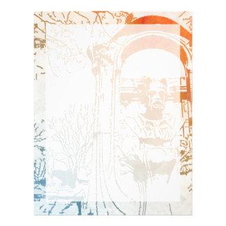 Émile Zola Memorial Watercolor Letterhead