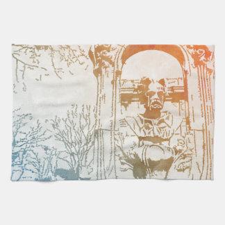 Émile Zola Memorial Watercolor Towel