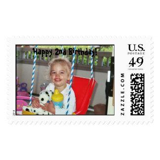 ¡Emilee 004, 2do cumpleaños feliz! Timbres Postales
