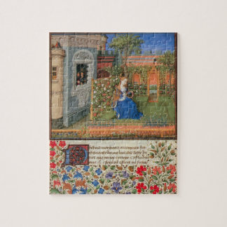 Emilia en el arte medieval de la rosaleda puzzle
