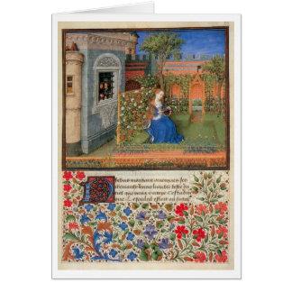 Emilia in the rosegarden greeting card
