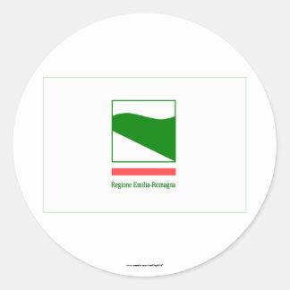 Emilia-Romagna flag Round Stickers