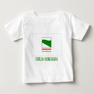 Emilia-Romagna flag with name Baby T-Shirt
