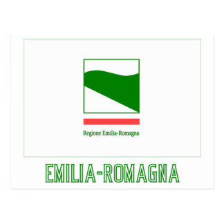 Emilia-Romagna flag with name Postcard