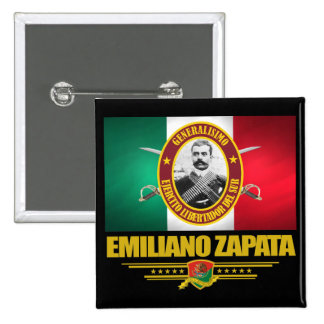 Emiliano Zapata Pin Cuadrada 5 Cm