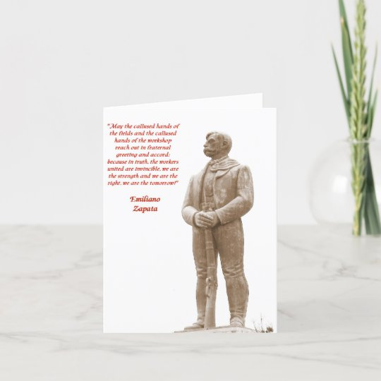 Emiliano Zapata Quote 60 Note Card Zazzle Simple Emiliano Zapata Quotes