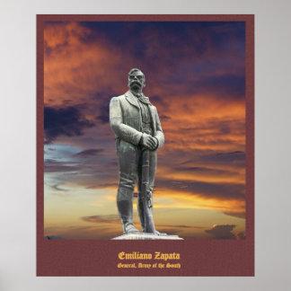 Emiliano Zapata statue poster