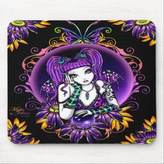 """""""Emilicious"""" Rainbow Flower Fairy Art Mousepad"""