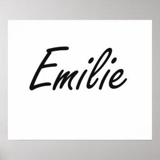 Emilie artistic Name Design Poster