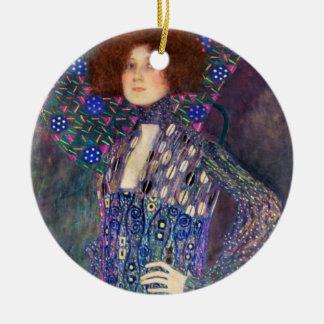 Emilie Floege, 1902 Adorno Navideño Redondo De Cerámica