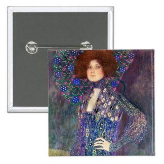 Emilie Floege, 1902 Pinback Button