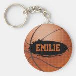 Emilie Personalized Basketball Keychain / Keyring