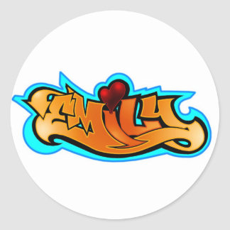 emily2 classic round sticker