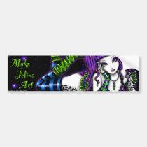 gothic fantasy, fairy, original, fine art, products, myka, jelina, fantasy, Bumper Sticker with custom graphic design