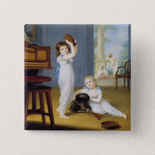Emily and George Mason, c.1794-95 (oil on canvas) Button