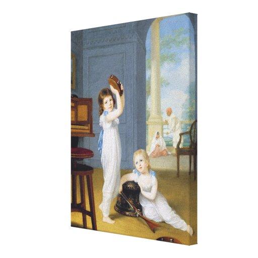 Emily and George Mason, c.1794-95 (oil on canvas) Canvas Print
