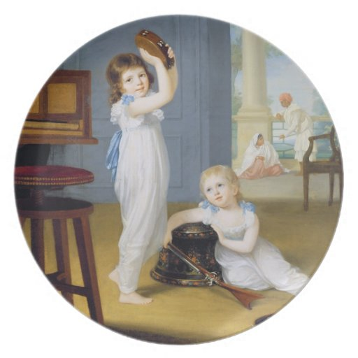 Emily and George Mason, c.1794-95 (oil on canvas) Party Plates