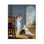 Emily and George Mason, c.1794-95 (oil on canvas) Postcard
