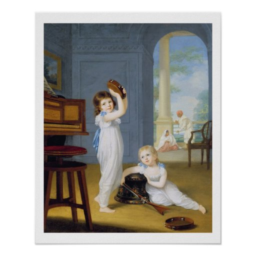 Emily and George Mason, c.1794-95 (oil on canvas) Poster