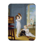 Emily and George Mason, c.1794-95 (oil on canvas) Rectangular Magnet