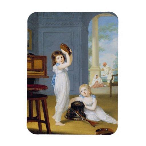 Emily and George Mason, c.1794-95 (oil on canvas) Rectangular Photo Magnet