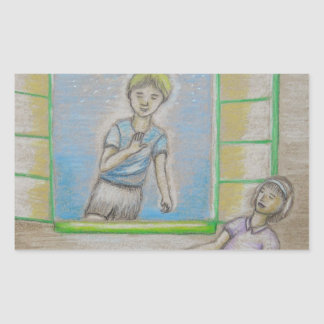 Emily and Willy Rectangular Sticker