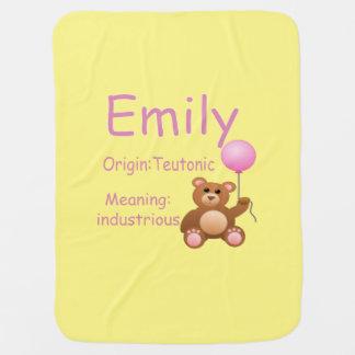 Emily Baby Name Blanket