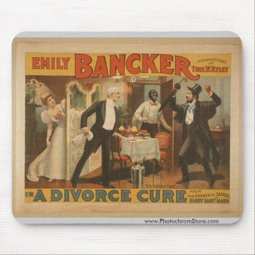 Emily Bancker, 'A Divorce Cure' Vintage Theater Mouse Pad