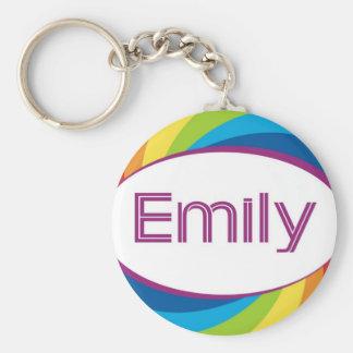 Emily Basic Round Button Keychain