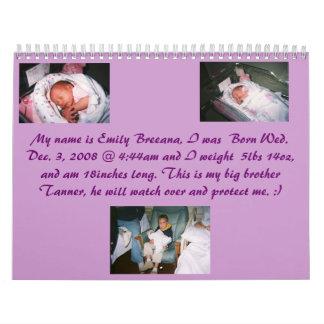 Emily Breanna.1, Tanner y Emily.1, Emily Brea… Calendario De Pared