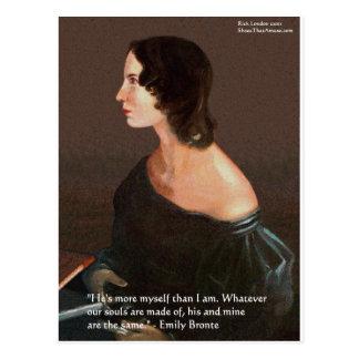 """Emily Bronte """"almas los mismos"""" regalos y tarjetas Postal"""