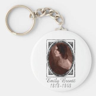 Emily Brontë Basic Round Button Keychain