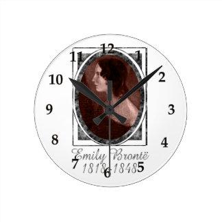 Emily Brontë Round Wall Clocks