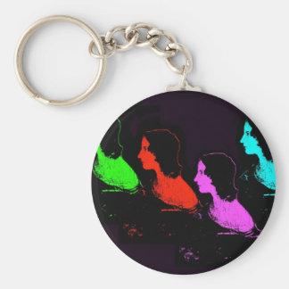 Emily Bronte Collage Basic Round Button Keychain