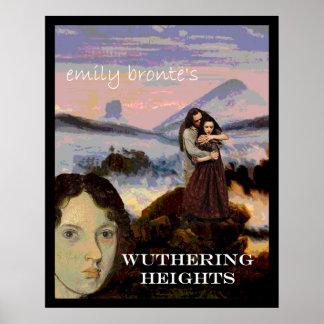 Emily Bronte con Heathcliff y Cathy Póster