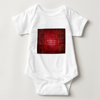 Emily Bronte Dirty Girl quote Baby Bodysuit