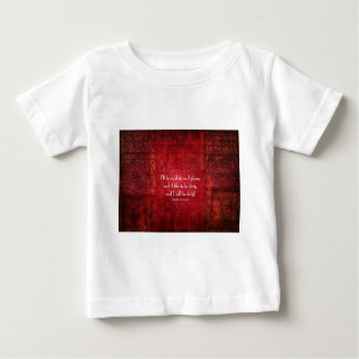 Emily Bronte Dirty Girl quote Baby T-Shirt