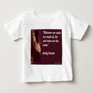 Emily Bronte & Famous Our Souls Quote T-shirt