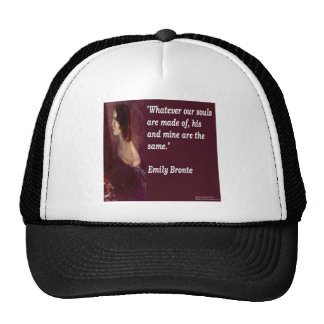 Emily Bronte & Famous Our Souls Quote Trucker Hat
