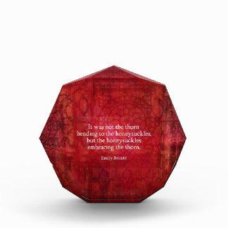 Emily Bronte inspirational quote Award