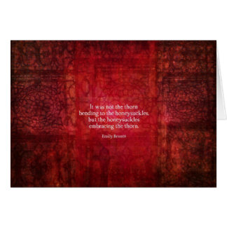 Emily Bronte inspirational quote Card