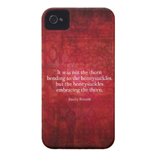 Emily Bronte inspirational quote iPhone 4 Cases