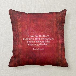 Emily Bronte inspirational quote decor Throw Pillow
