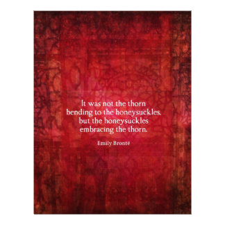 Emily Bronte inspirational quote Letterhead Template